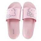 小禮堂 Hello Kitty 塑膠厚底拖鞋 室內拖鞋 休閒拖鞋 浴室拖鞋 (粉銀 大臉)4718203-7803_