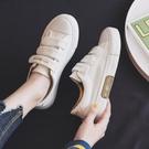 小白鞋 魔術貼帆布鞋女鞋韓版ulzzang百搭2021年秋季新款板鞋學生小白鞋【快速出貨八折鉅惠】