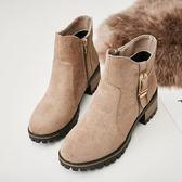 馬丁靴女新款秋冬季英倫風裸靴短筒靴歐洲站女靴子潮百搭學生 9號潮人館