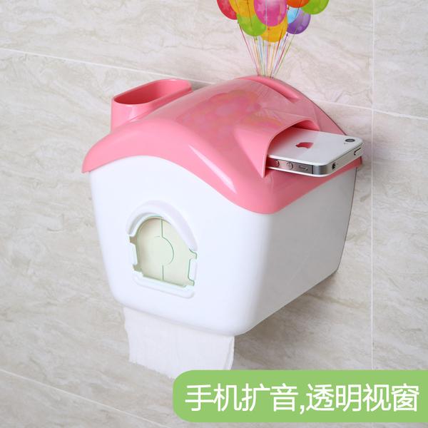 衛生紙架紙巾盒吸盤式廁所手紙盒創意衛生紙廁紙架防水捲紙筒免打孔【特價】