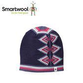 【美國 SmartWool 女款雙面緹花小圓帽 《深海軍藍色》】SW010456/保暖針織帽/毛線帽/羊毛帽