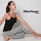 MissYumi 100% 純棉蕾絲細肩帶背心 - 黑