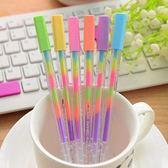 6色炫彩變色螢光筆 粉彩筆