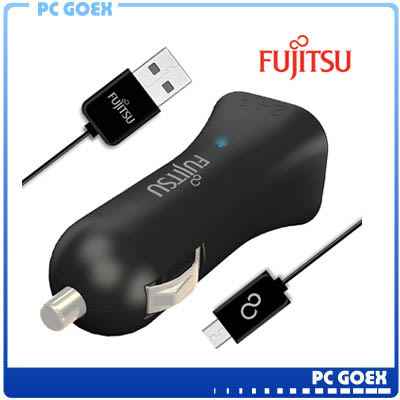 ☆軒揚PC goex☆ 富士通 FUJITSU 雙USB 車用充電器 (UC-01) 黑