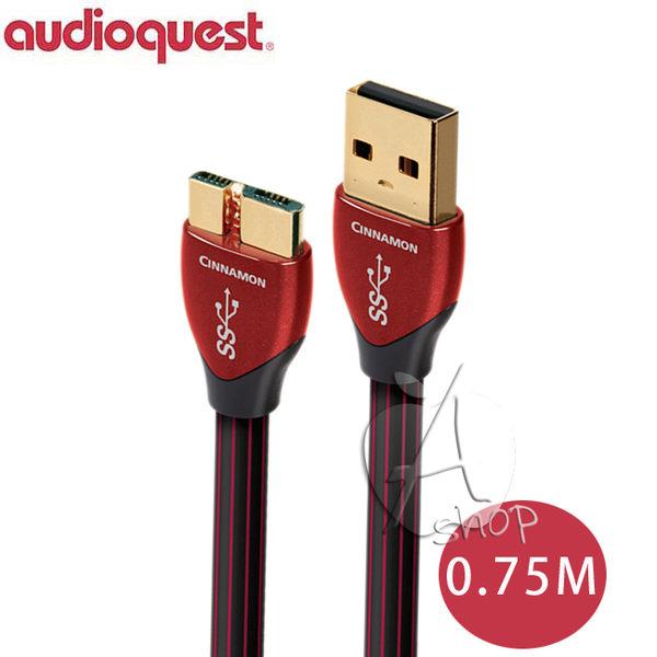 【A Shop】美國 Audioquest USB 3.0 CINNAMON 傳輸線 0.75M(A-MICRO)