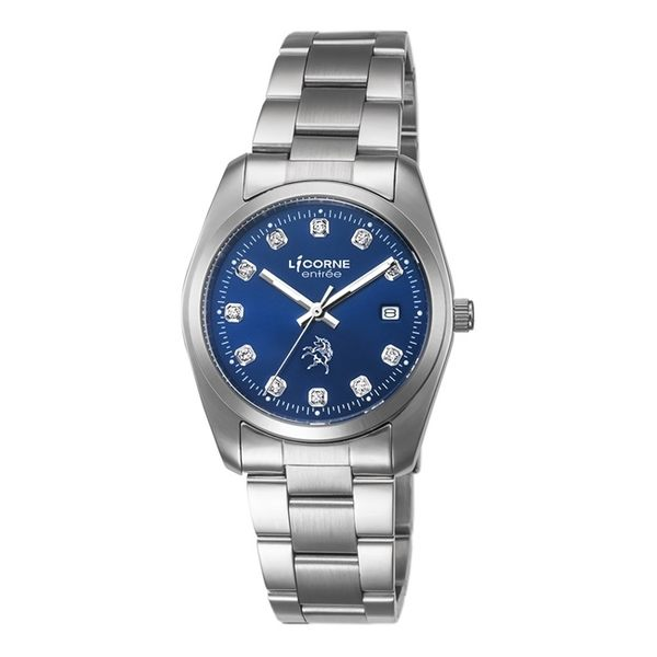 【LICORNE】恩萃 Entrée 簡約時尚設計都市腕錶 (寶藍 LT083BWNS)