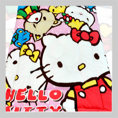 【名流寢飾家居館】Hello Kitty.歡樂同好會.雙面花色.保暖毛毯被.全程臺灣製造