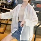 促銷 襯衫女韓版寬松防曬衣夏季百搭學生外搭開衫雪紡披肩短款小外套薄