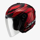 【東門城】SOL SO-1 創(黑紅) 半罩安全帽 可拆式下巴
