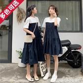 假兩件洋裝韓版寬鬆姐妹裝假兩件女顯瘦連身裙2020年夏季新款氣質閨蜜裝裙子618購