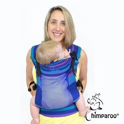 加拿大 Chimparoo Trek Air-O 透氣嬰兒揹帶 - 蝴蝶藍