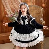 女童洋裝兒童洛麗塔公主裙 女童洋裝lolita 連衣裙小女孩蓬蓬蘿莉裙~ 出貨八折鉅惠~