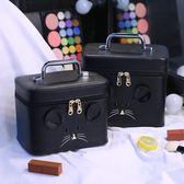 化妝包 大容量小號便攜韓國可愛少女心化妝品收納盒化妝箱手提 js15165『Pink領袖衣社』