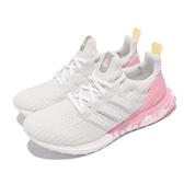 adidas 慢跑鞋 ULTRABOOST DNA 白 粉紅 冰淇淋 女鞋 路跑 愛迪達 【ACS】 GZ0689