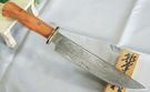 郭常喜與興達刀鋪-木柄藝術獵刀(A0296)手工刻銅護手+龍柏木刀柄