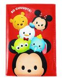 【卡漫城】 Tsum 護照套 紅 ㊣版 港版 多功能 萬用 證件套 卡片套 收納本 米奇 維尼 唐老鴨 奇奇