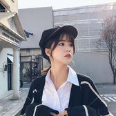 貝雷帽帽子女新款秋冬季韓版日系百搭毛呢八角帽加厚保暖英倫貝雷帽 維多原創 免運