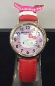 【震撼精品百貨】Hello Kitty 凱蒂貓-手錶-圓形KT圖案-紅色錶帶【共1款】
