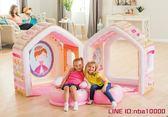 兒童帳篷?INTEX充氣城堡兒童帳篷游戲玩具屋室內公主屋海洋球池游樂場 MKS年終狂歡