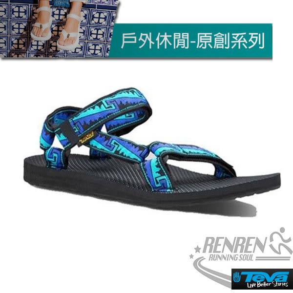 TEVA  男運動涼鞋 Original Universal (藍) 緹花織帶涼鞋 耐磨抗菌TV1004006SRLB