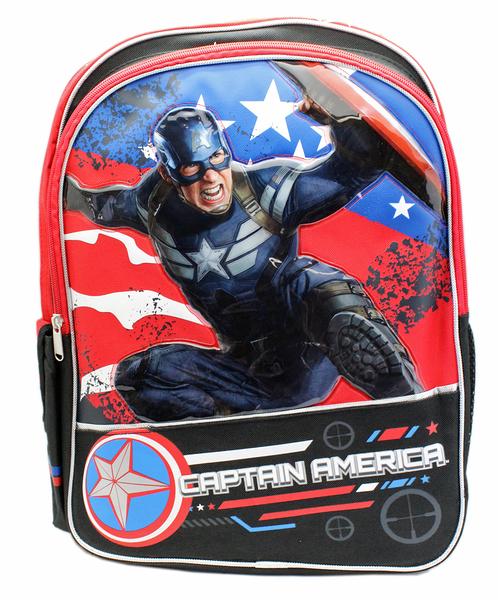 【卡漫城】 美國隊長 後背包 高40cm ㊣版 歐美版 書包 兒童 外出包 造型 旅行包 Captain America