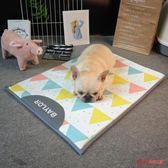 寵物冰墊 INS夏天透氣狗狗窩涼蓆墊子冰絲中小型犬通用寵物貓法斗耐咬降溫 3色
