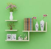 牆壁架子隔板牆上置物架 簡約客廳 書架電視背景壁挂裝飾1 首圖款