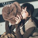 Queen Shop【07020575】簡約時髦厚毛絨質感漁夫帽 兩色售*現+預*