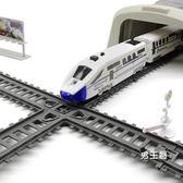 軌道玩具高鐵軌道車玩具 電動兒童仿真和諧號4-6-10歲男孩小火車軌道動車XW