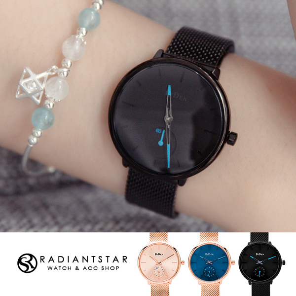 BIDEN靈魂的指引單眼秒針金屬米蘭鍊帶手錶【WBI0124S】璀璨之星☆
