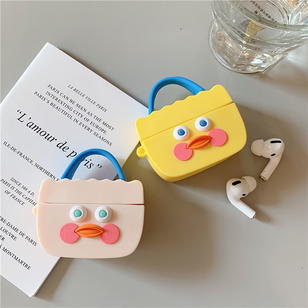 🍎 Airpods Pro 專用  🇹🇼台灣發貨 [ 玻尿酸鴨手提袋 ] 藍芽耳機保護套 蘋果無線耳機保護