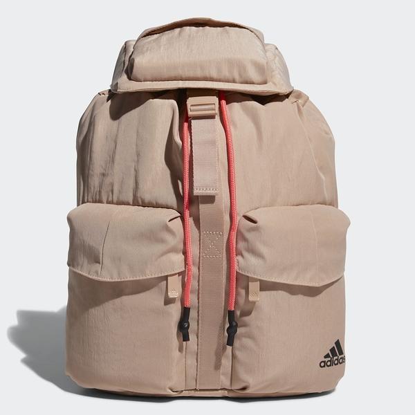 Adidas FLAP BACKPACK 奶茶色後背包-NO.GG1060