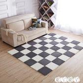 地墊 兒童加厚爬爬墊絨面臥室滿鋪可愛泡沫地墊EVA拼接地墊地毯家用 【全館9折】