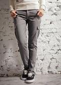 【BTIS】口袋窄版女工作長褲  鐵灰色