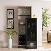紅酒櫃 歐式客廳酒櫃現代簡約小酒櫃多功能儲物櫃靠墻餐邊櫃紅酒櫃子家用 夢藝家
