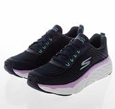 SKECHERS系列-GORUN MAX CUSHIONING ELITE 女款黑紫白三色運動慢跑鞋-NO.17693NVLV