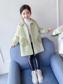 兒童外套 女童外套秋冬洋氣毛呢女孩夾棉上衣兒童呢子大衣加厚秋裝 全館免運