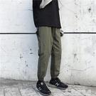 褲子男2020春季潮牌工裝褲束腳韓版潮流百搭直筒寬鬆休閒運動長褲 伊衫風尚