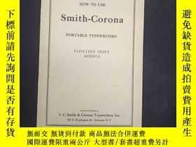 二手書博民逛書店How罕見to Use Smith Corona PORTABL