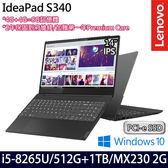 【Lenovo】 IdeaPad S340 81N700U9TW 14吋i5-8265U四核1TB+512G SSD效能MX230獨顯輕薄筆電-特仕板