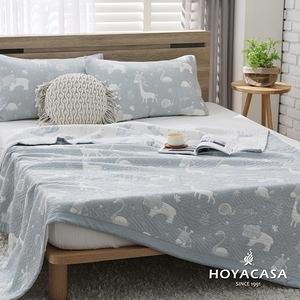 【HOYACASA動物森林】純棉三層紗親膚透涼被-單人150x200