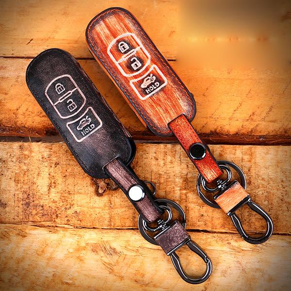 Mazda 3 馬三 Mazda 2 CX-3 CX-5 CX-9 馬自達6 wagon 汽車 鑰匙 皮套 鑰匙包 復古 智慧型