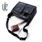 【U2】大口袋簡約商務防潑水側背包/出差包/上班包/MIT/台灣製【兩色】