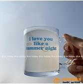 表白水杯馬克杯夏日月夜玻璃杯浪漫情侶禮品品牌【小桃子】