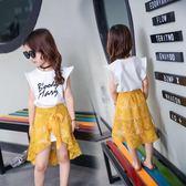 雙十一返場促銷2018新款親子裝夏母女親子裙連衣裙套裝全家裝潮海邊沙灘蕾絲裙