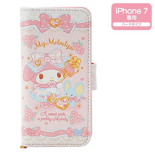 【震撼精品百貨】My Melody 美樂蒂~美樂蒂 iPhone7 PU皮革折式保護套(寶石花園)