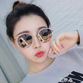 墨鏡女圓臉潮防紫外線太陽鏡