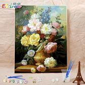 數字油畫diy客廳風景花卉成人涂色手工填色畫