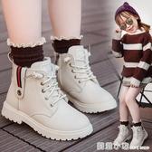 女童靴子2020秋冬季新款童鞋兒童雪地靴防真皮女孩短靴加絨棉鞋 聖誕節全館免運