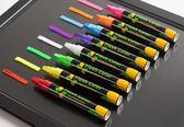 雙十二狂歡熒光板專用筆 記號筆閃光彩色筆POP筆 發光黑板筆水性可擦熒光筆【潮咖地帶】